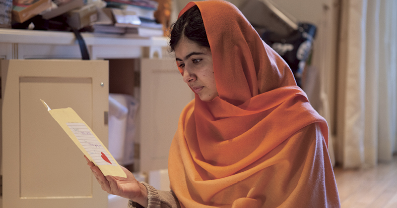 Copies of 'He Named Me Malala' will spread the message of social change in classrooms
