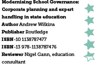 Modernising School Governance: Corporate planning and expert handling in state education