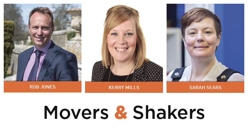 Movers & Shakers: Rob Jones, Kerry Mills and Sarah Sears