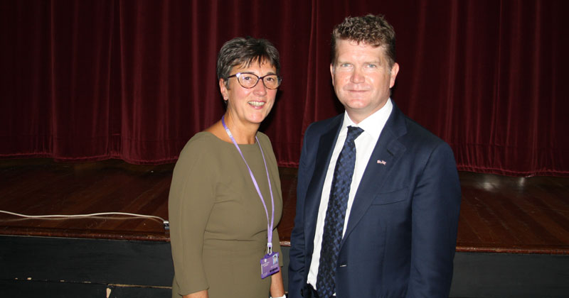 Weston Favell Academy received a visit from US Ambassador Matthew Barzun