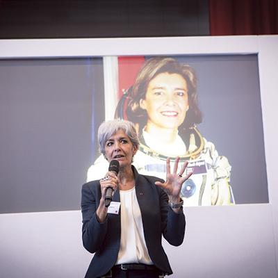 Astronaut Claudie Haignere