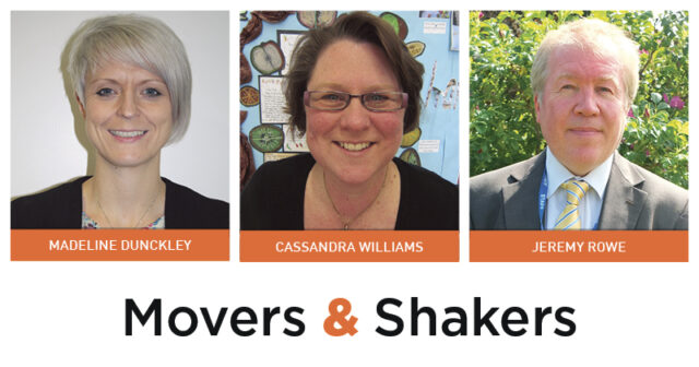 Movers & Shakers: Madeline Dunckley, Cassandra Williams and Jeremy Rowe