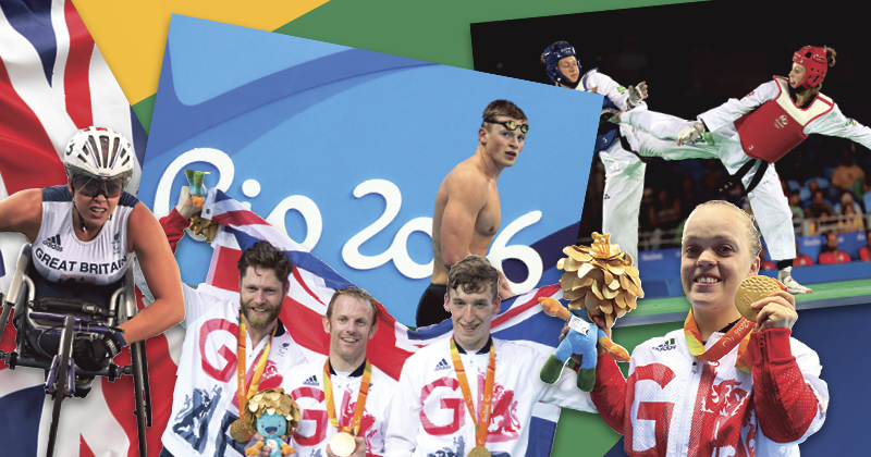 Where did the paralympic gold medallists go to school?