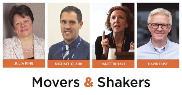 Movers & Shakers: Julia King, Michael Clark, Janet Royall and David Huse