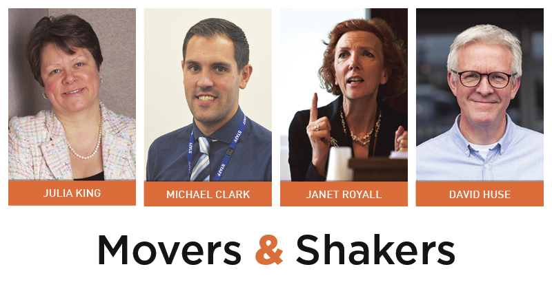 Movers & Shakers: Julia King, Michael Clark, Janet Royall and David Huse