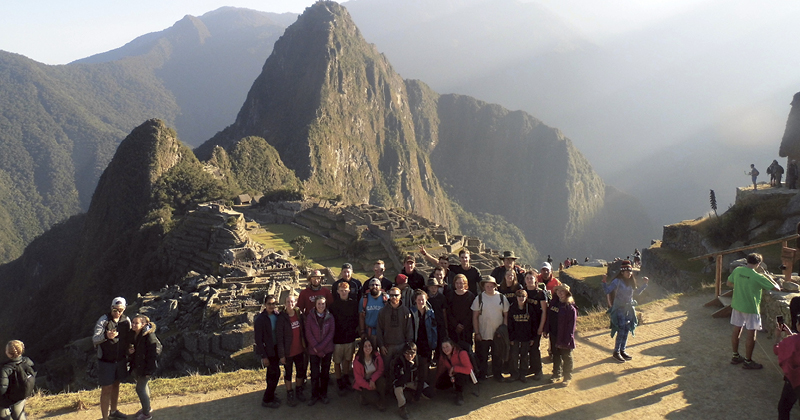 Seven pupils go back to basics and spend a month living in the Peruvian Andes
