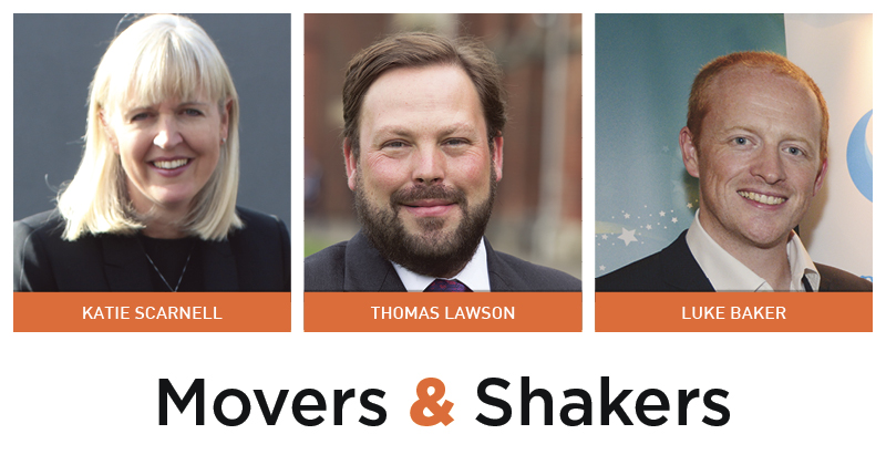Movers & Shakers: Katie Scarnell, Thomas Lawson and Luke Baker
