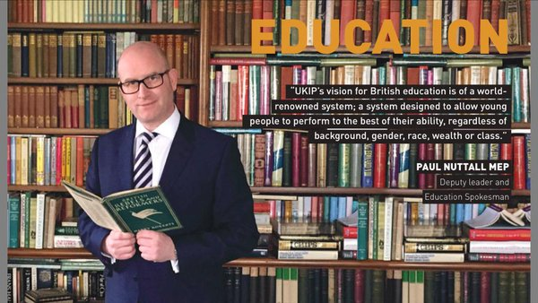 Former UKIP education spokesperson Paul Nuttall becomes party leader