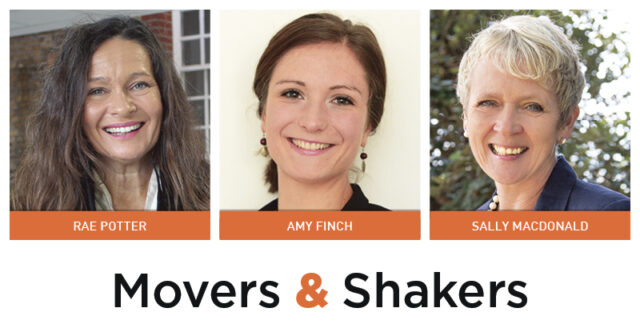 Movers & Shakers: Rae Potter, Amy Finch and Sally MacDonald