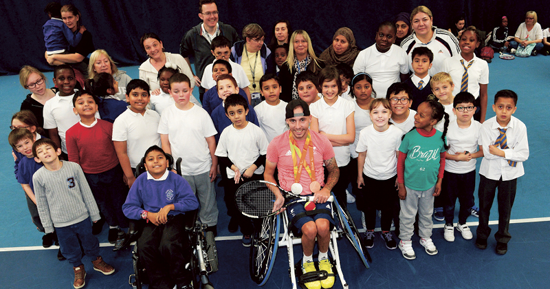 Rio medallist shows off tennis skills at first ever Disability Tennis Festival