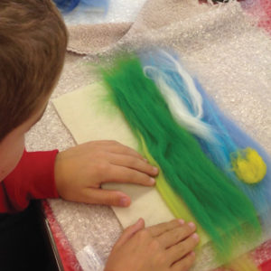 Pupils get a fuzzy feeling in felting workshop