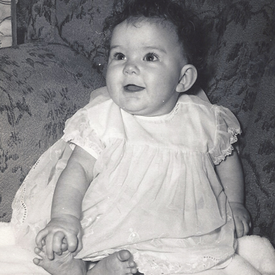As a baby in 1960...