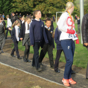 £14,000 path will get pupils walking a mile a day