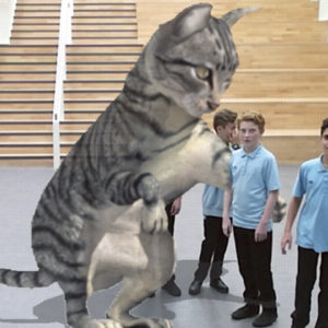 School's virtual cat is a hit with students