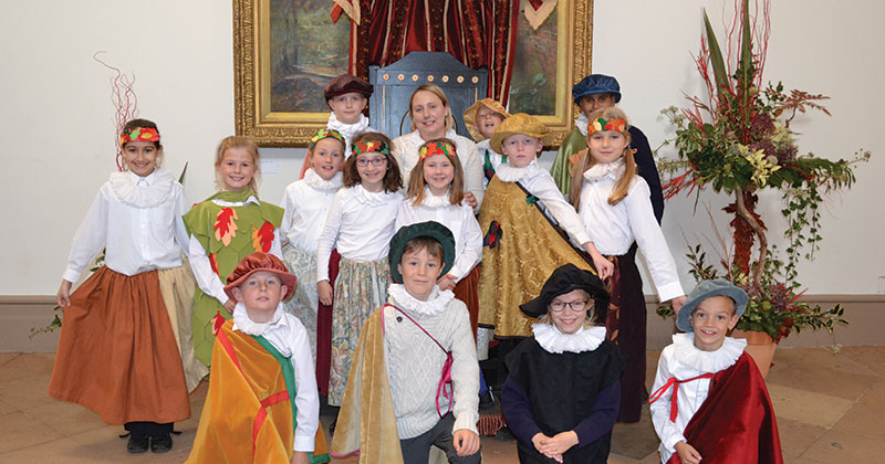 Pupils go back in time to celebrate Christmas like the Tudors