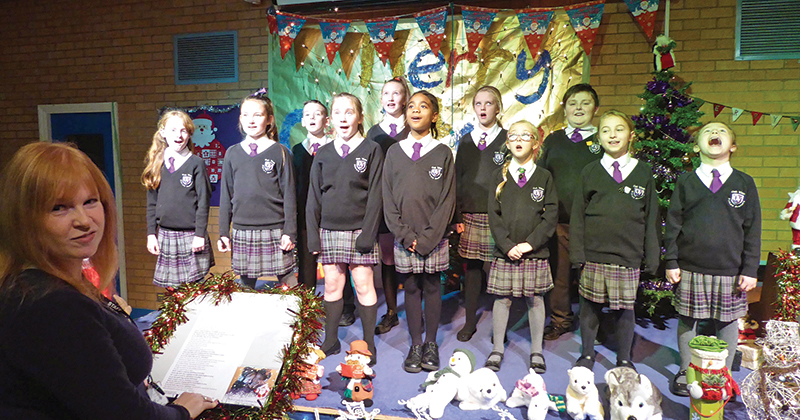 Primary pupils record Christmas single to raise money for speech therapist