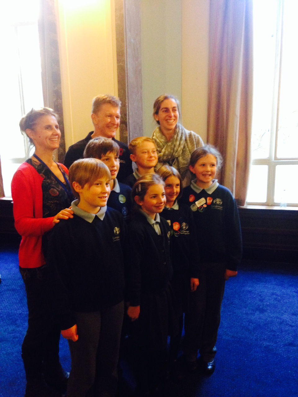 Pupils met Tim Peake