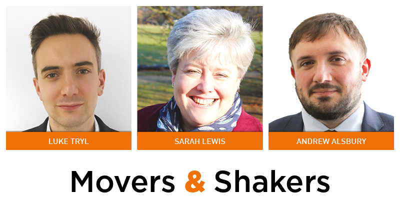 Movers & Shakers: Luke Tryl, Sarah Lewis and Andrew Alsbury