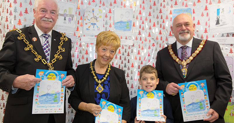 Eight-year old becomes local celebrity after winning calendar competition