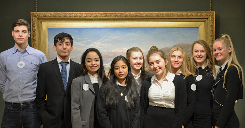 Sixth-formers take over London's Guildhall Art Gallery as tour guides
