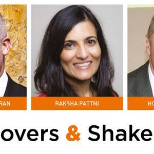 Movers & Shakers: Brendan Loughran, Raksha Pattni and Howard Jackson