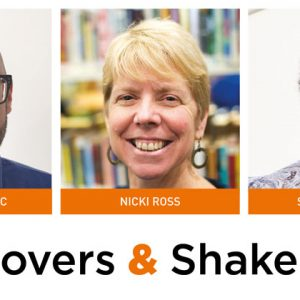 Movers & Shakers: Novak Ivanovic, Nicki Ross and Sam Grierson