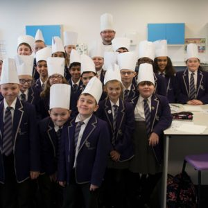 Professional chef gives free workshops at school as part of nationwide initiative