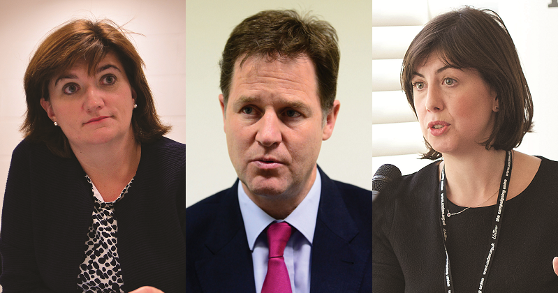 Nicky Morgan, Nick Clegg and Lucy Powell to lead grammar schools debate