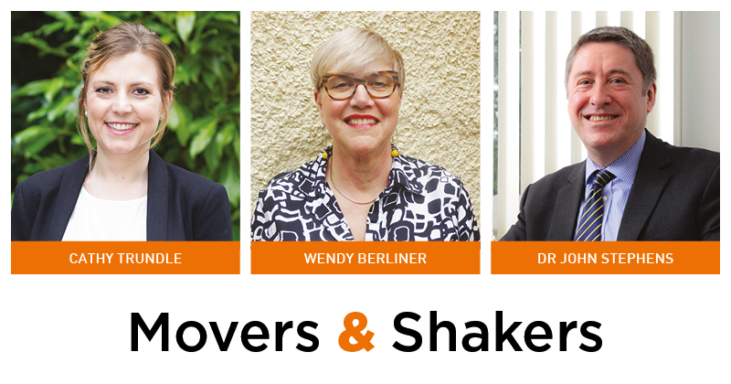 Movers & Shakers: Cathy Trundle, Wendy Berliner and John Stephens