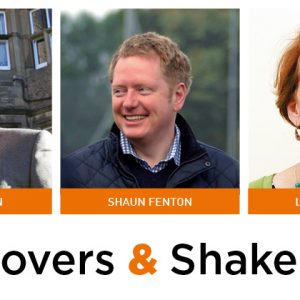 Movers & Shakers: Tony Jackson, Shaun Fenton and Louise Cooper