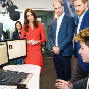 Trio of royals launch pay a visit to new media school