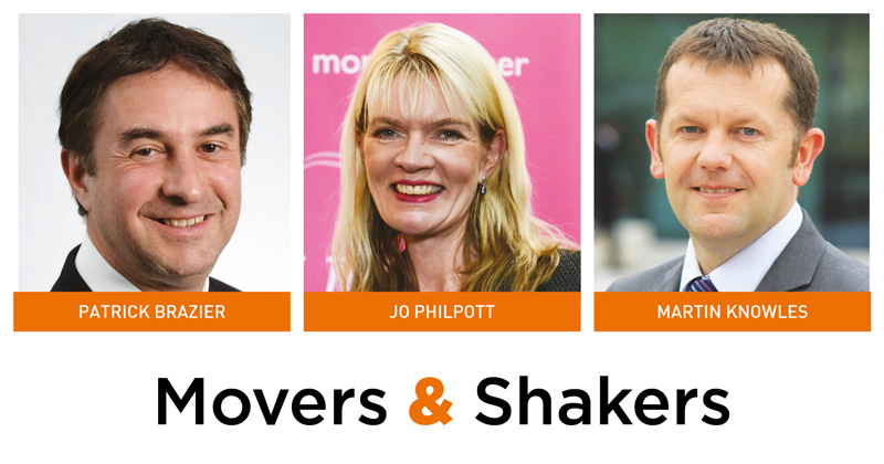 Movers & Shakers: Patrick Brazier, Jo Philpott and Martin Knowles