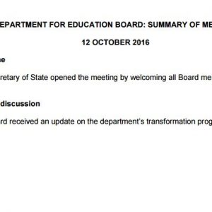 Long-awaited DfE board minutes 'fail to set example' on transparency