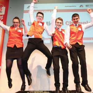 Four young engineers crowned UK champions in F1 engineering competition