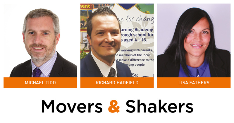 Movers & Shakers: Michael Tidd, Richard Hadfield and Lisa Fathers