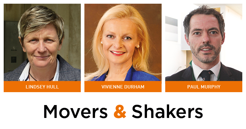 Movers & Shakers: Lindsey Hull, Vivienne Durham and Paul Murphy