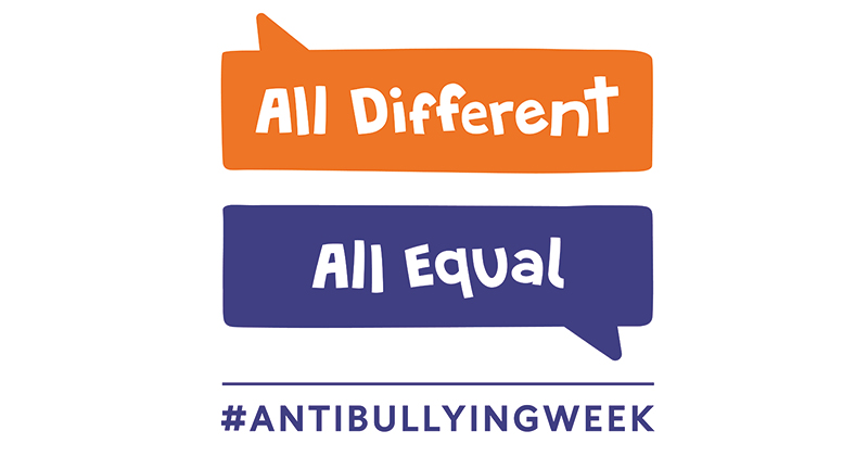 Theme of Anti-Bullying Week 2017 revealed as 'All Different, All Equal'