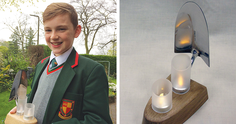 Year 7 pupil wins national competition with his innovative use of unwanted garden trowel