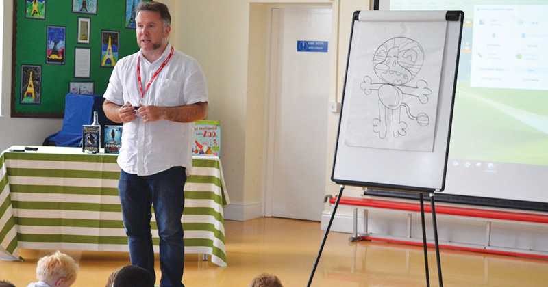 Bob the Builder creator gives drawing masterclass to primary pupils