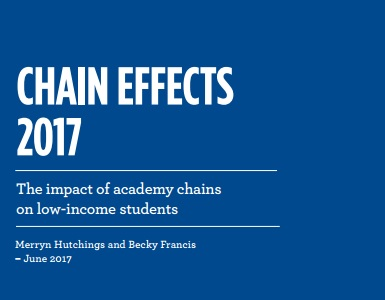 Chain Effects 2017: Which academy trusts are well above average?
