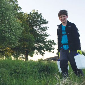 Pupil cooks, cleans and washes with spring water for school project