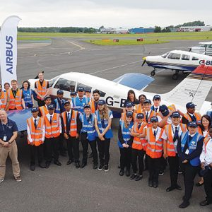 Pupils fly four-seater plane as part of year-long STEM initiative