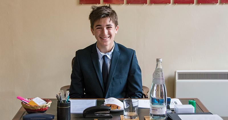 Year 8 pupil spends the day as headteacher of Highgate School