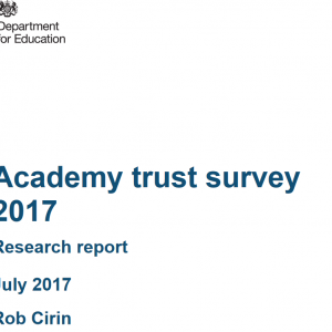 Schools convert for cash, and 11 other academy trust survey findings