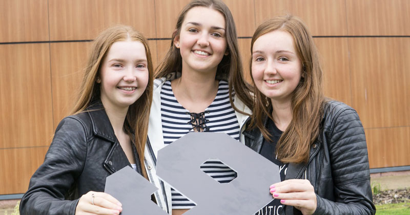 Trio of sisters celebrate their final GCSE results day