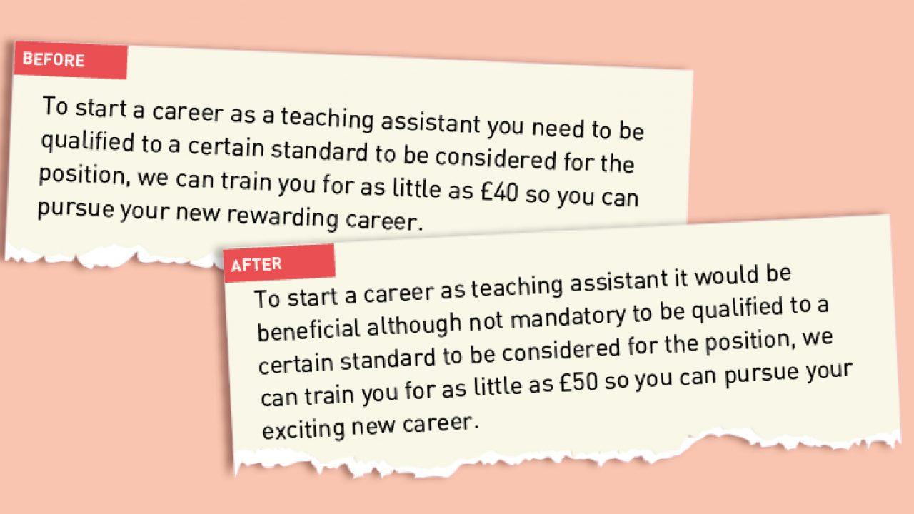 New Skills Academy takes down false TA job advert