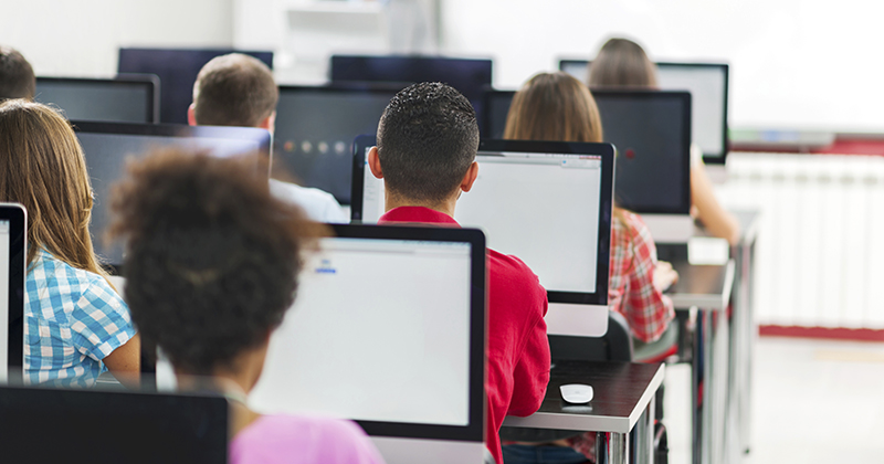 Lack of tech in exams is denying pupils their 'normal way of working'