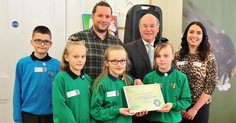 Two primary schools gain government recognition for their work on bee conservation