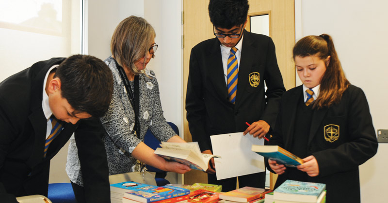 Ten year 7 bookworms invited to select new books for school's library