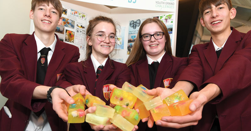 Budding inventors win national competition with bar of soap